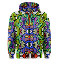 Abstract Shape Doodle Thing Men s Zipper Hoodie
