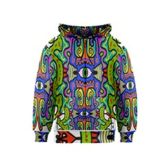 Abstract Shape Doodle Thing Kids  Zipper Hoodie