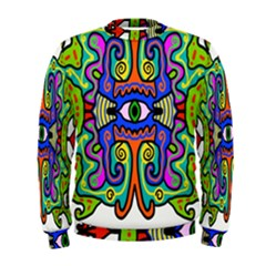 Abstract Shape Doodle Thing Men s Sweatshirt