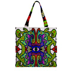 Abstract Shape Doodle Thing Zipper Grocery Tote Bag