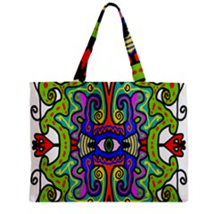 Abstract Shape Doodle Thing Zipper Mini Tote Bag