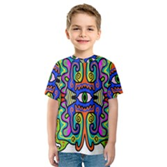 Abstract Shape Doodle Thing Kids  Sport Mesh Tee