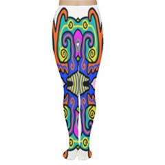 Abstract Shape Doodle Thing Women s Tights