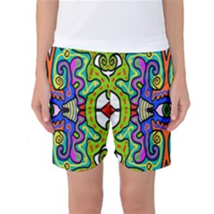 Abstract Shape Doodle Thing Women s Basketball Shorts