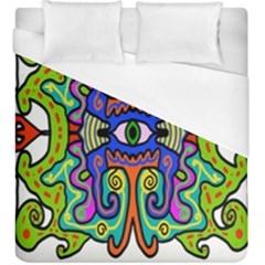 Abstract Shape Doodle Thing Duvet Cover (king Size)