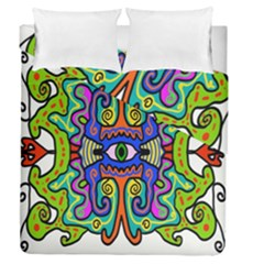Abstract Shape Doodle Thing Duvet Cover Double Side (queen Size)