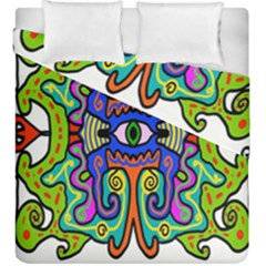 Abstract Shape Doodle Thing Duvet Cover Double Side (king Size)