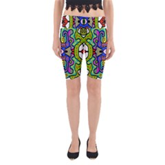 Abstract Shape Doodle Thing Yoga Cropped Leggings