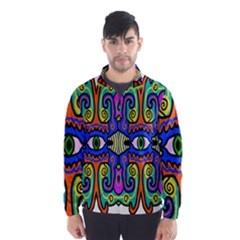 Abstract Shape Doodle Thing Wind Breaker (Men)