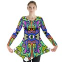 Abstract Shape Doodle Thing Long Sleeve Tunic  View1