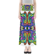 Abstract Shape Doodle Thing Maxi Skirts