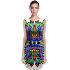 Abstract Shape Doodle Thing Classic Sleeveless Midi Dress