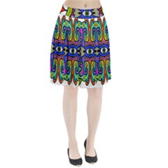 Abstract Shape Doodle Thing Pleated Skirt
