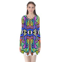 Abstract Shape Doodle Thing Flare Dress