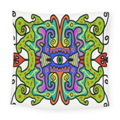Abstract Shape Doodle Thing Square Tapestry (large)