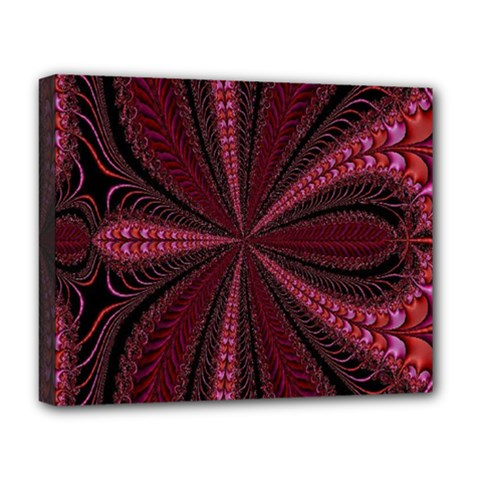 Red Ribbon Effect Newtonian Fractal Deluxe Canvas 20  x 16