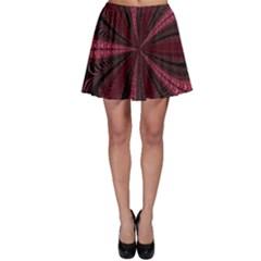 Red Ribbon Effect Newtonian Fractal Skater Skirt