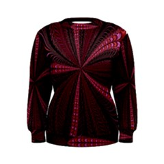 Red Ribbon Effect Newtonian Fractal Women s Sweatshirt