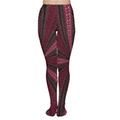Red Ribbon Effect Newtonian Fractal Women s Tights