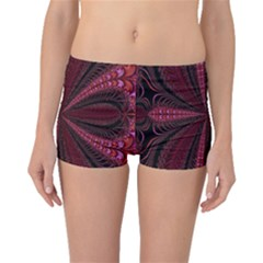 Red Ribbon Effect Newtonian Fractal Boyleg Bikini Bottoms