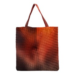 Background Technical Design With Orange Colors And Details Grocery Tote Bag