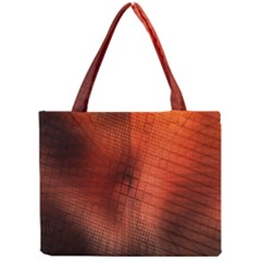 Background Technical Design With Orange Colors And Details Mini Tote Bag