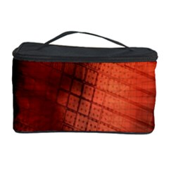 Background Technical Design With Orange Colors And Details Cosmetic Storage Case