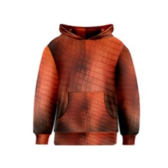 Background Technical Design With Orange Colors And Details Kids  Pullover Hoodie