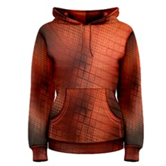 Background Technical Design With Orange Colors And Details Women s Pullover Hoodie