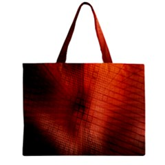 Background Technical Design With Orange Colors And Details Zipper Mini Tote Bag