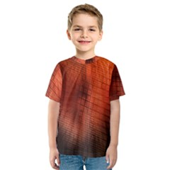 Background Technical Design With Orange Colors And Details Kids  Sport Mesh Tee