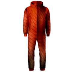 Background Technical Design With Orange Colors And Details Hooded Jumpsuit (Men)