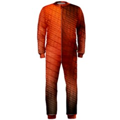 Background Technical Design With Orange Colors And Details Onepiece Jumpsuit (men)