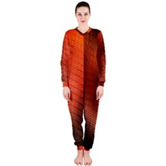 Background Technical Design With Orange Colors And Details OnePiece Jumpsuit (Ladies)