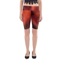 Background Technical Design With Orange Colors And Details Yoga Cropped Leggings