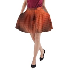 Background Technical Design With Orange Colors And Details A-Line Pocket Skirt
