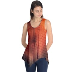 Background Technical Design With Orange Colors And Details Sleeveless Tunic