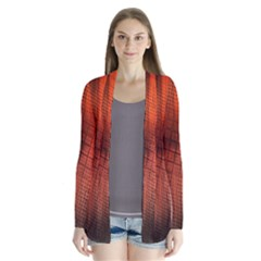 Background Technical Design With Orange Colors And Details Cardigans