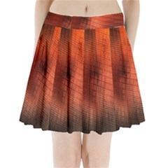 Background Technical Design With Orange Colors And Details Pleated Mini Skirt
