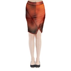 Background Technical Design With Orange Colors And Details Midi Wrap Pencil Skirt