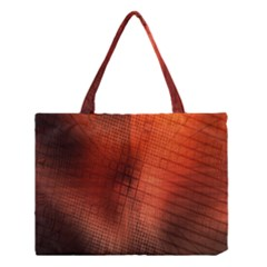 Background Technical Design With Orange Colors And Details Medium Tote Bag
