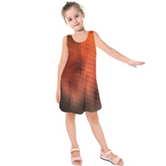 Background Technical Design With Orange Colors And Details Kids  Sleeveless Dress
