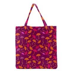 Umbrella Seamless Pattern Pink Lila Grocery Tote Bag