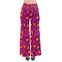 Umbrella Seamless Pattern Pink Lila Pants