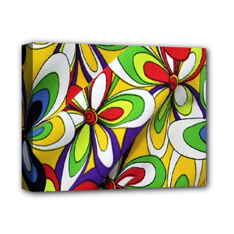 Colorful Textile Background Deluxe Canvas 14  x 11