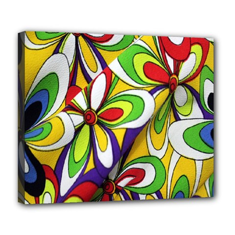 Colorful Textile Background Deluxe Canvas 24  x 20