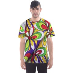 Colorful Textile Background Men s Sport Mesh Tee