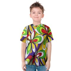 Colorful Textile Background Kids  Cotton Tee