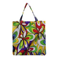 Colorful Textile Background Grocery Tote Bag