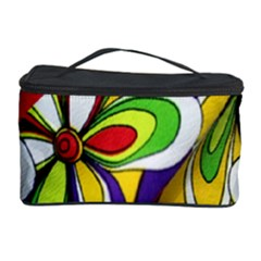Colorful Textile Background Cosmetic Storage Case